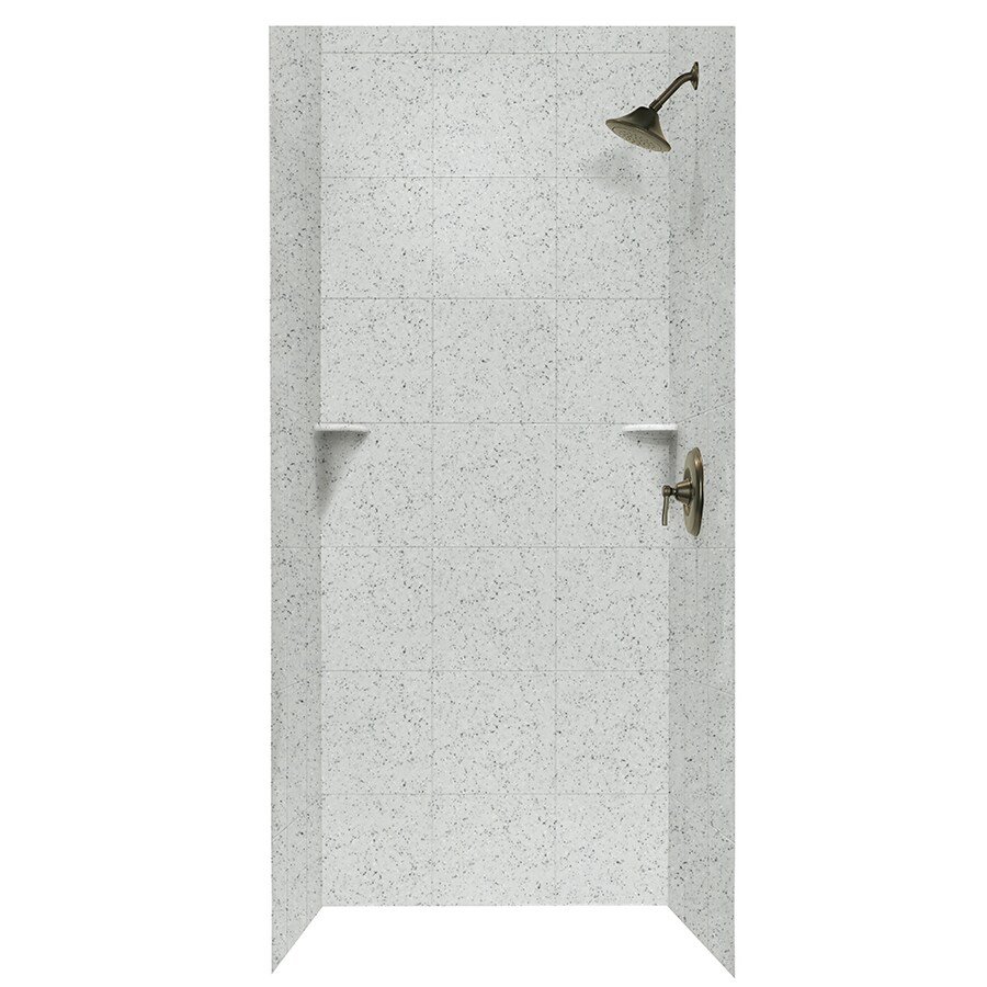 Swanstone Tahiti Gray Shower Wall Surround Side and Back Walls (Common: 36-in x 36-in; Actual: 72.5-in x 36-in x 36-in)
