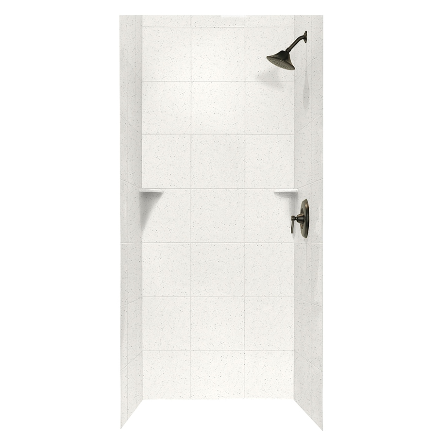 Swanstone Tahiti Matrix Shower Wall Surround Side and Back Wall Kit (Common: 36-in x 36-in; Actual: 72.5-in x 36-in x 36-in)