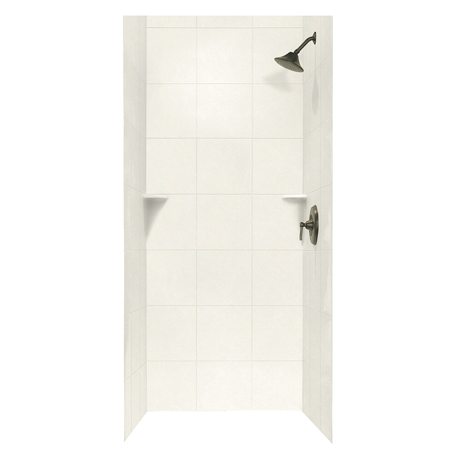Shop Swanstone Tahiti Ivory Shower Wall Surround Side And Back Wall ...