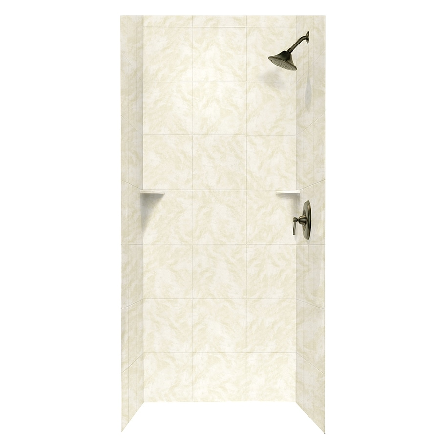 Swanstone Cloud White Shower Wall Surround Side and Back Walls (Common: 36-in x 36-in; Actual: 72.5-in x 36-in x 36-in)