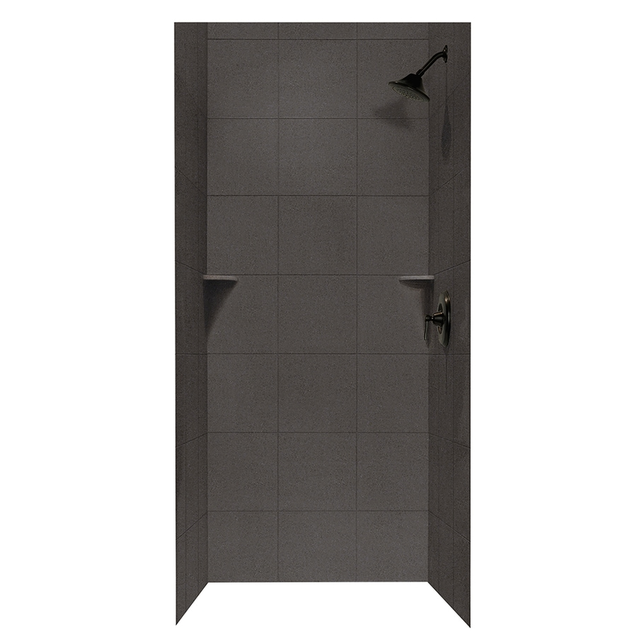 Swanstone Canyon Shower Wall Surround Side and Back Wall Kit (Common: 36-in x 36-in; Actual: 72.5-in x 36-in x 36-in)