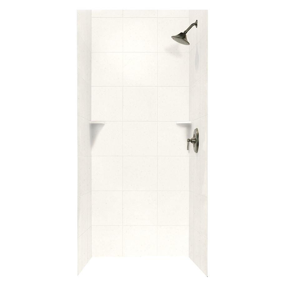 Swanstone Baby's Breath Shower Wall Surround Side and Back Walls (Common: 36-in x 36-in; Actual: 72.5-in x 36-in x 36-in)