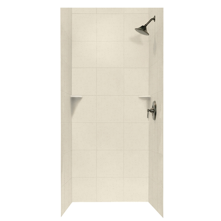 Swanstone Caraway Seed Shower Wall Surround Side and Back Walls (Common: 36-in x 36-in; Actual: 72.5-in x 36-in x 36-in)