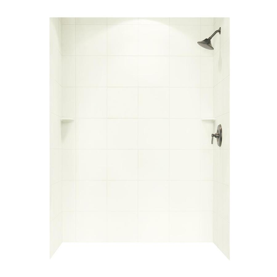 Swanstone White Shower Wall Surround Side and Back Panels (Common: 62-in x 36-in; Actual: 96-in x 62-in x 36-in)