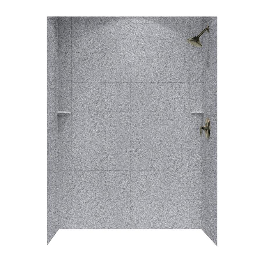 Swanstone Gray Granite Shower Wall Surround Side and Back Walls (Common: 62-in x 36-in; Actual: 96-in x 62-in x 36-in)
