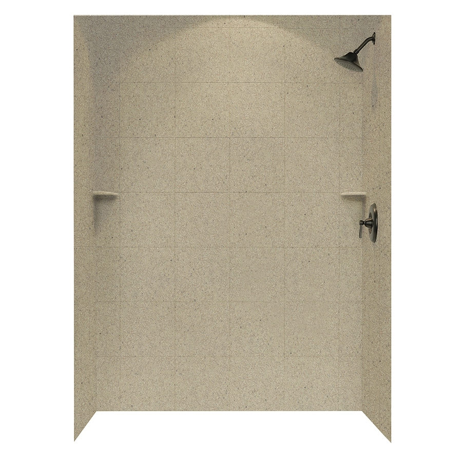 Swanstone Prairie Shower Wall Surround Side And Back Wall Kit (Common: 62-in x 36-in; Actual: 96-in x 62-in x 36-in)