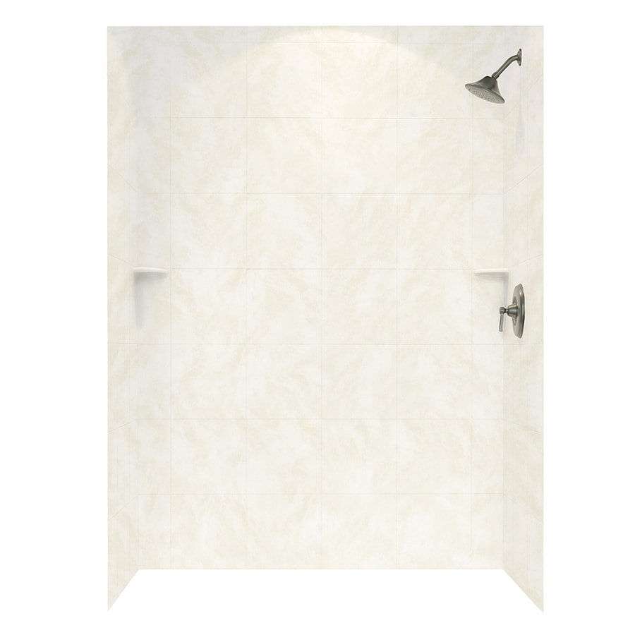 Swanstone Cloud White Shower Wall Surround Side And Back Wall Kit (Common: 62-in x 36-in; Actual: 96-in x 62-in x 36-in)