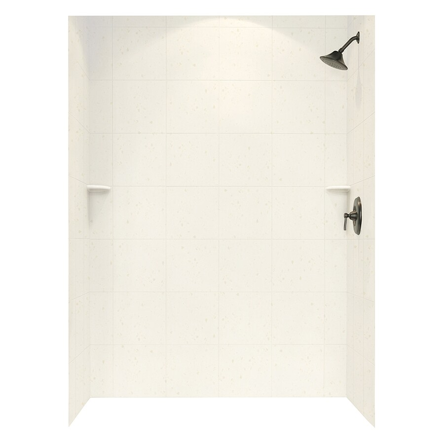 Swanstone Baby's Breath Shower Wall Surround Side And Back Wall Kit (Common: 62-in x 36-in; Actual: 96-in x 62-in x 36-in)