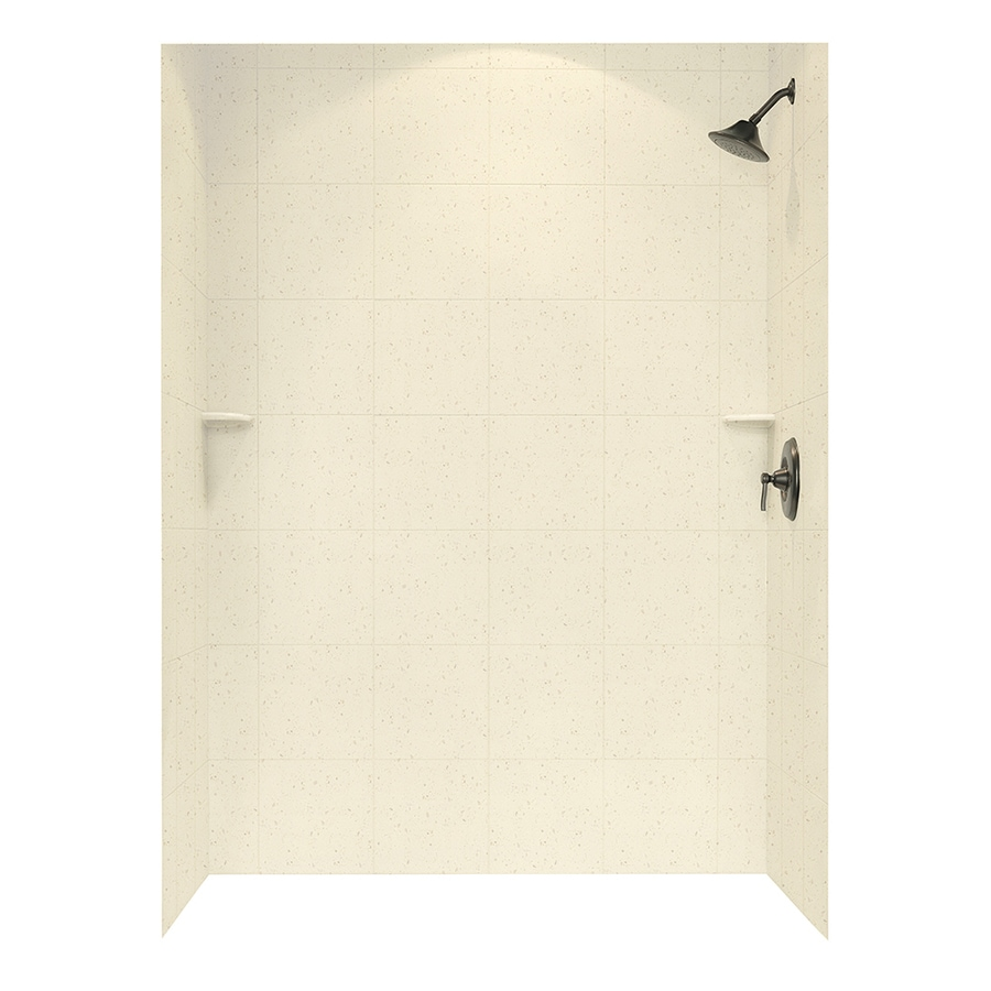 Swanstone Caraway Seed Shower Wall Surround Side And Back Wall Kit (Common: 62-in x 36-in; Actual: 96-in x 62-in x 36-in)
