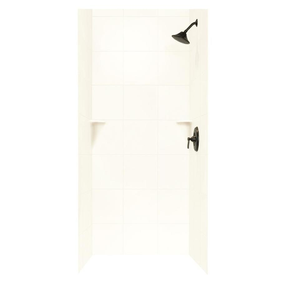 Swanstone White Shower Wall Surround Side And Back Wall Kit (Common: 36-in x 36-in; Actual: 96-in x 36-in x 36-in)