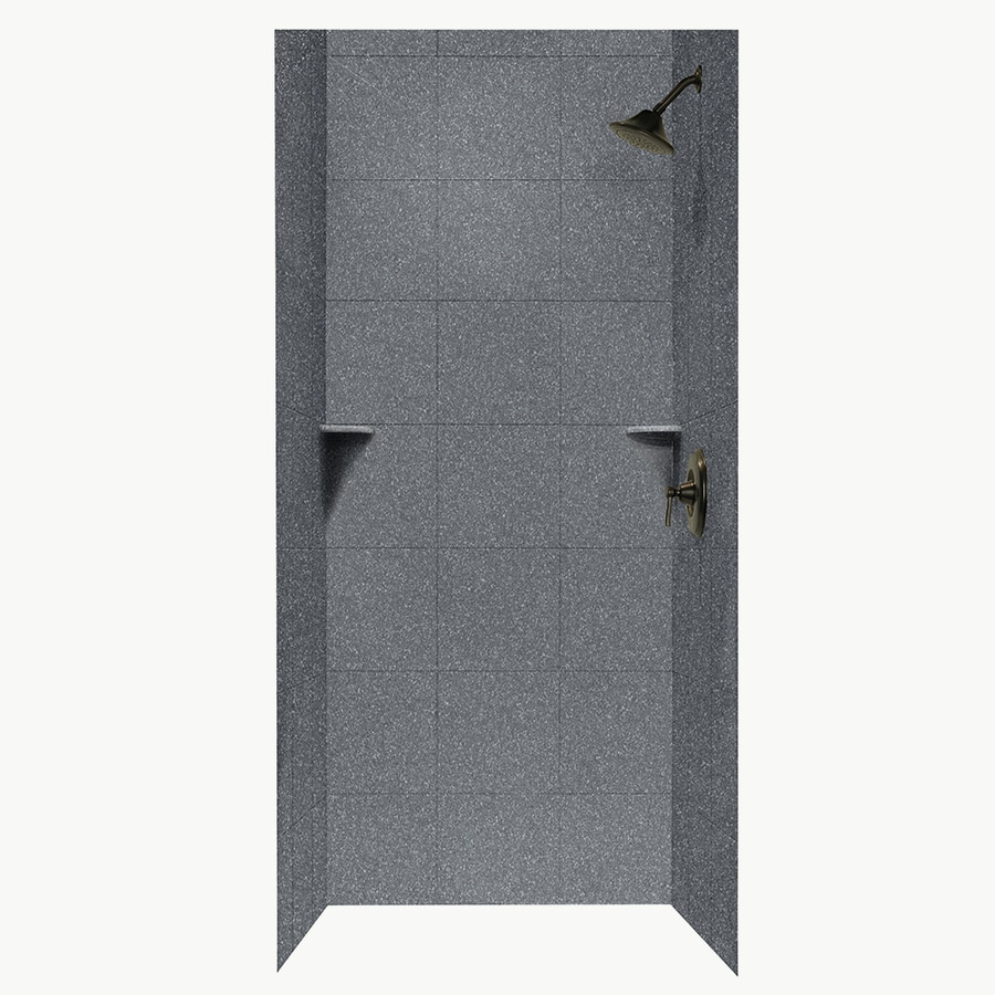 Swanstone Night Sky Shower Wall Surround Side and Back Walls (Common: 36-in x 36-in; Actual: 96-in x 36-in x 36-in)