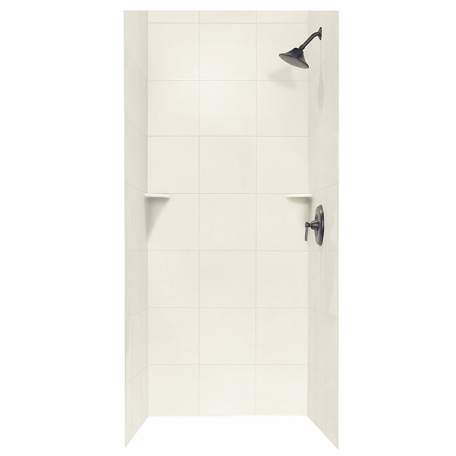 Swanstone Bisque Shower Wall Surround Side And Back Wall Kit (Common: 36-in x 36-in; Actual: 96-in x 36-in x 36-in)