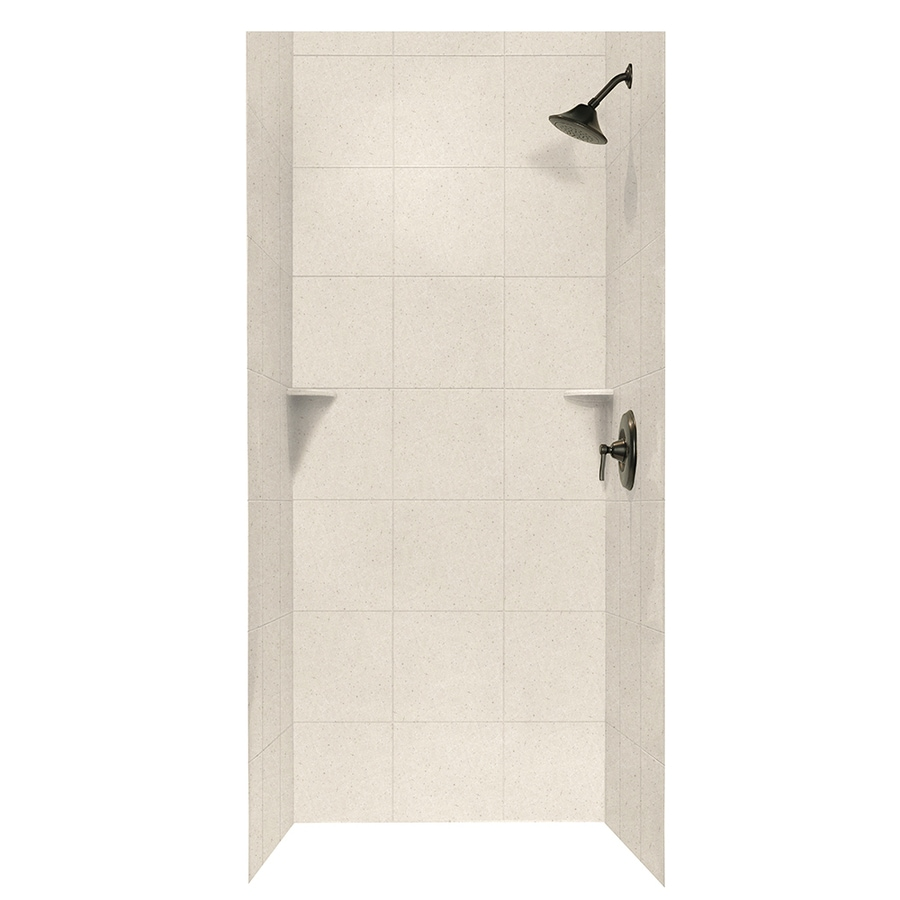 Swanstone Tahiti Sand Shower Wall Surround Side and Back Walls (Common: 36-in x 36-in; Actual: 96-in x 36-in x 36-in)
