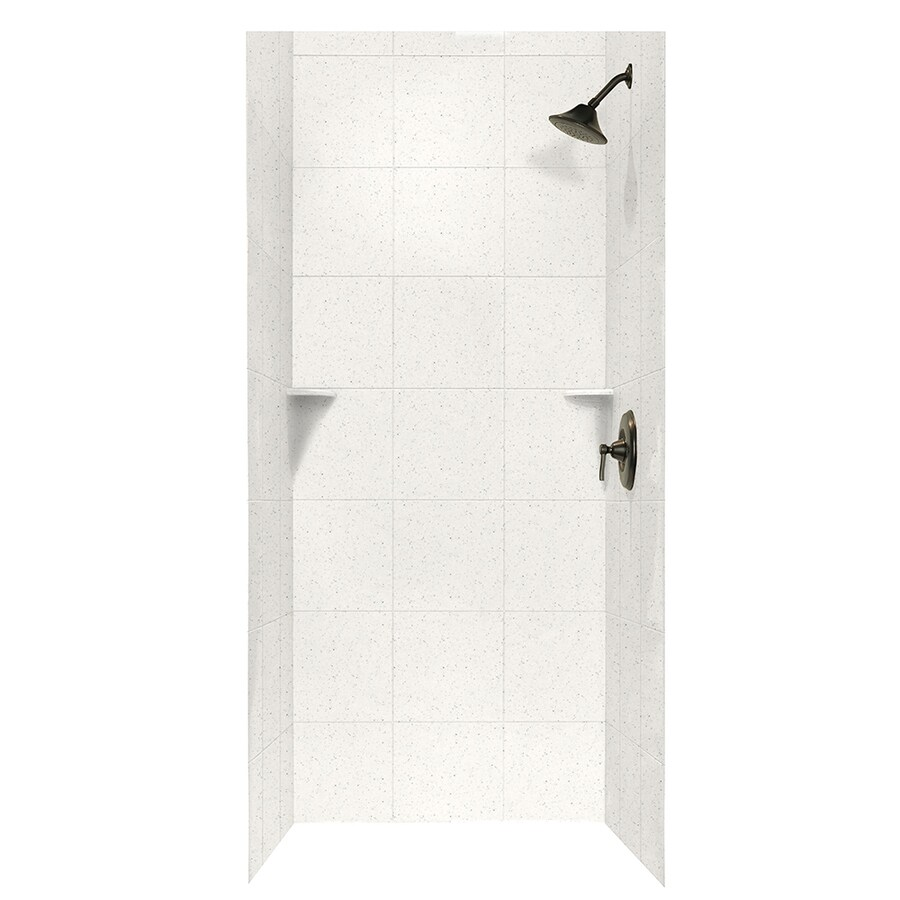 Swanstone Tahiti Matrix Shower Wall Surround Side and Back Walls (Common: 36-in x 36-in; Actual: 96-in x 36-in x 36-in)