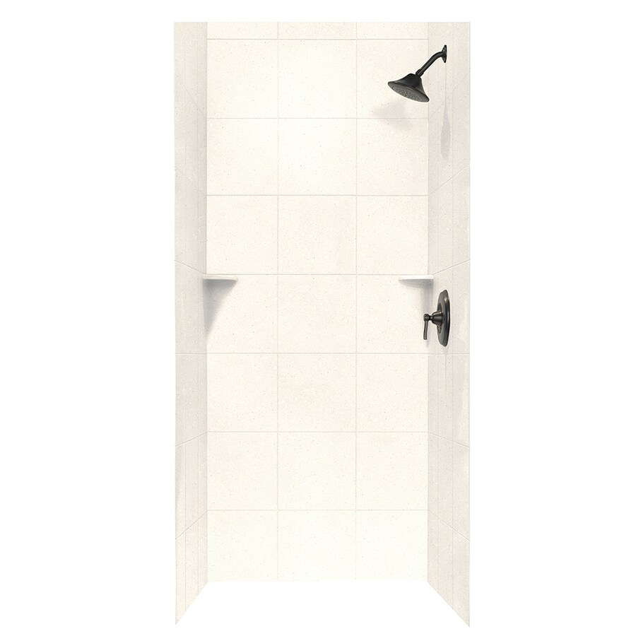 Swanstone Pebble Shower Wall Surround Side And Back Wall Kit (Common: 36-in x 36-in; Actual: 96-in x 36-in x 36-in)