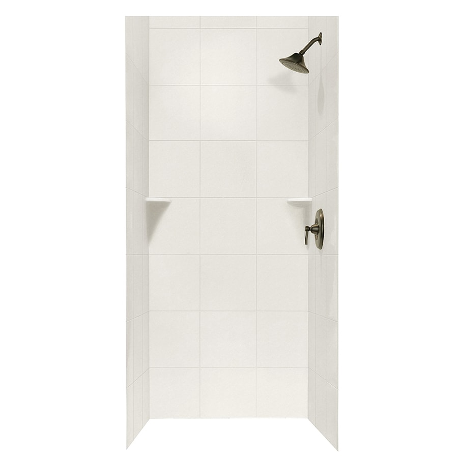Swanstone Glacier Shower Wall Surround Side and Back Walls (Common: 36-in x 36-in; Actual: 96-in x 36-in x 36-in)