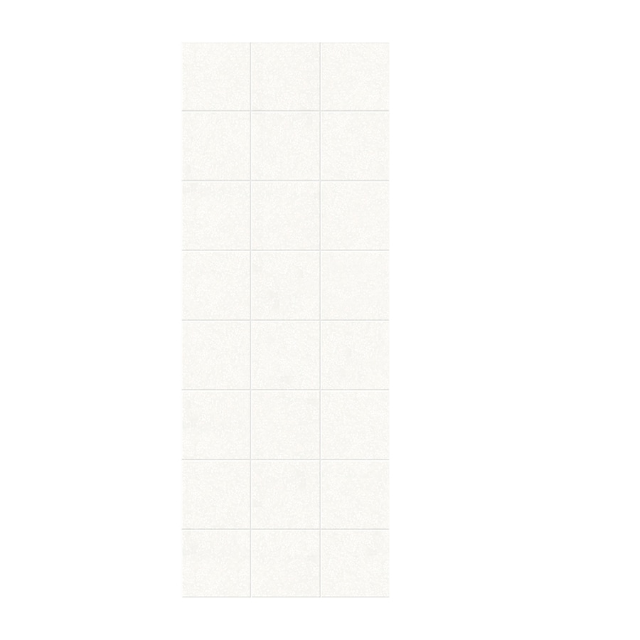 Swanstone Tahiti White Shower Wall Surround Side Wall Panel (Common: 0.25-in x 36-in; Actual: 96-in x 0.25-in x 36-in)