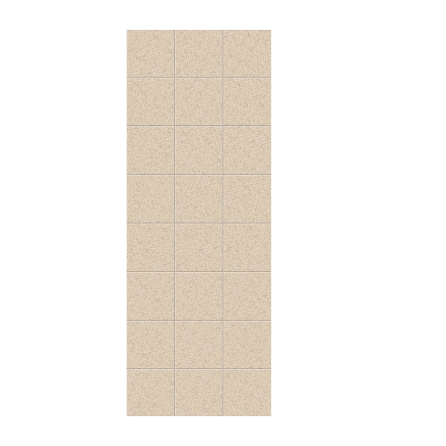 Swanstone Bermuda Sand Shower Wall Surround Side Panel (Common: 0.25-in x 36-in; Actual: 96-in x 0.25-in x 36-in)