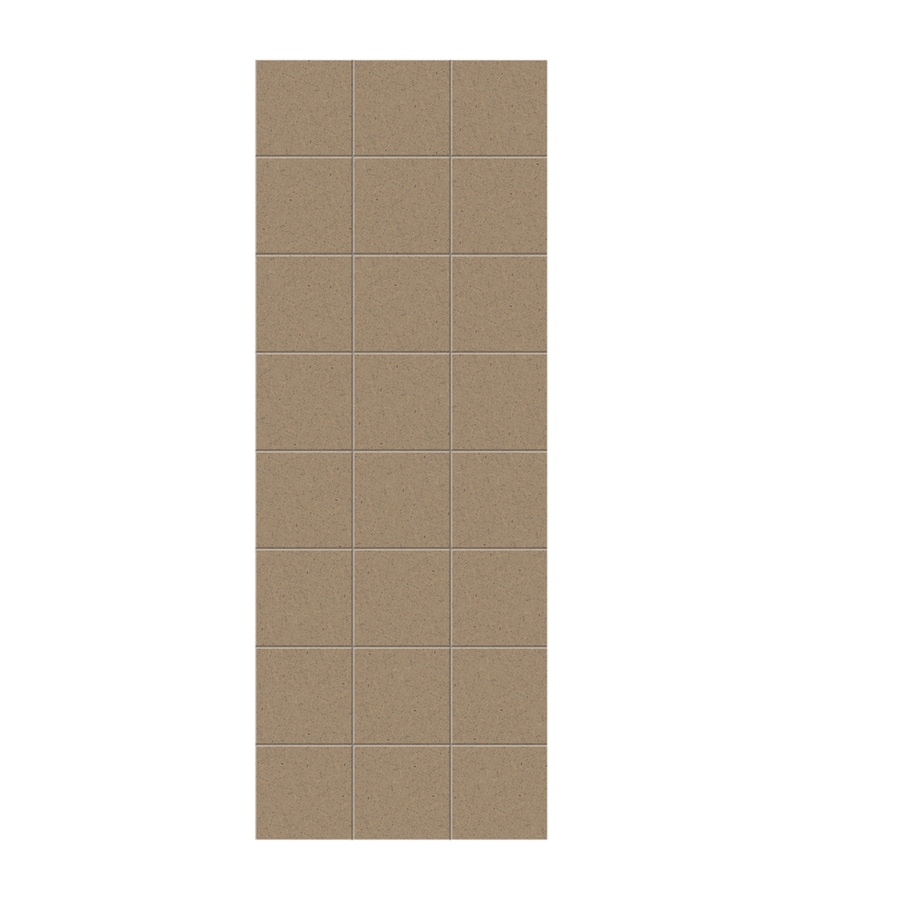 Swanstone Barley Shower Wall Surround Side Wall Panel (Common: 0.25-in x 36-in; Actual: 96-in x 0.25-in x 36-in)