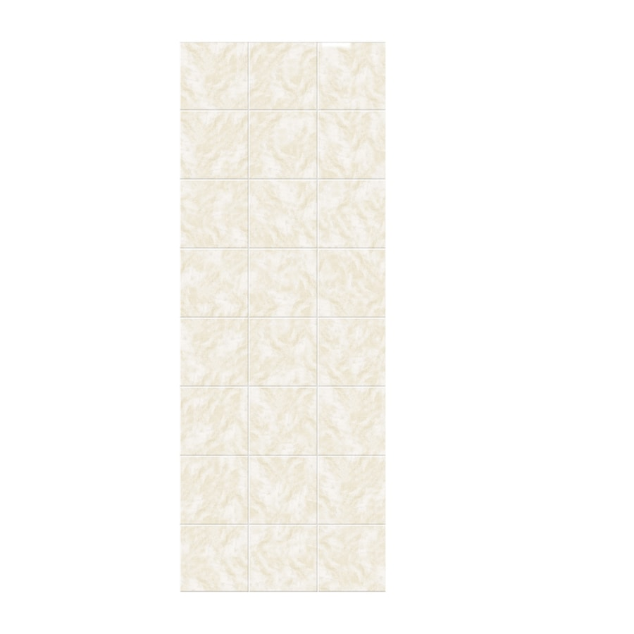 Swanstone Cloud White Shower Wall Surround Side Wall Panel (Common: 0.25-in x 36-in; Actual: 96-in x 0.25-in x 36-in)