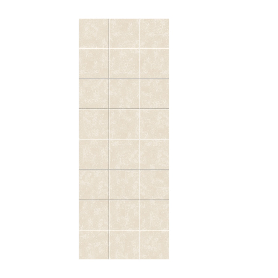 Swanstone Cloud Bone Shower Wall Surround Side Panel (Common: 0.25-in x 36-in; Actual: 96-in x 0.25-in x 36-in)