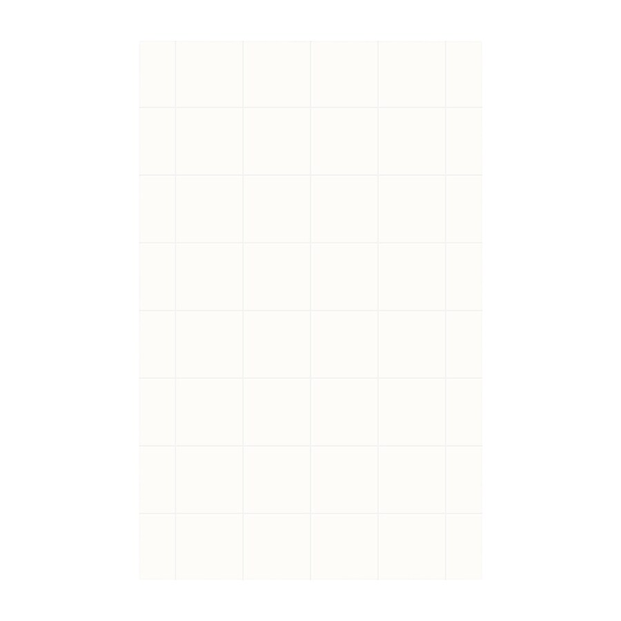 Swanstone White Shower Wall Surround Side Wall Panel (Common: 0.25-in x 62-in; Actual: 96-in x 0.25-in x 62-in)