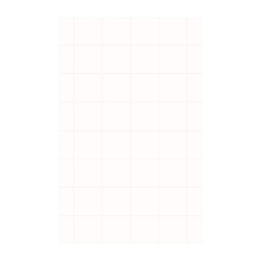 Swanstone White Shower Wall Surround Side Panel (Common: 0.25-in x 62-in; Actual: 96-in x 0.25-in x 62-in)