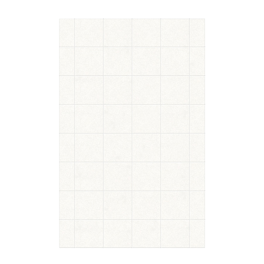 Swanstone Tahiti White Shower Wall Surround Side Wall Panel (Common: 0.25-in x 62-in; Actual: 96-in x 0.25-in x 62-in)