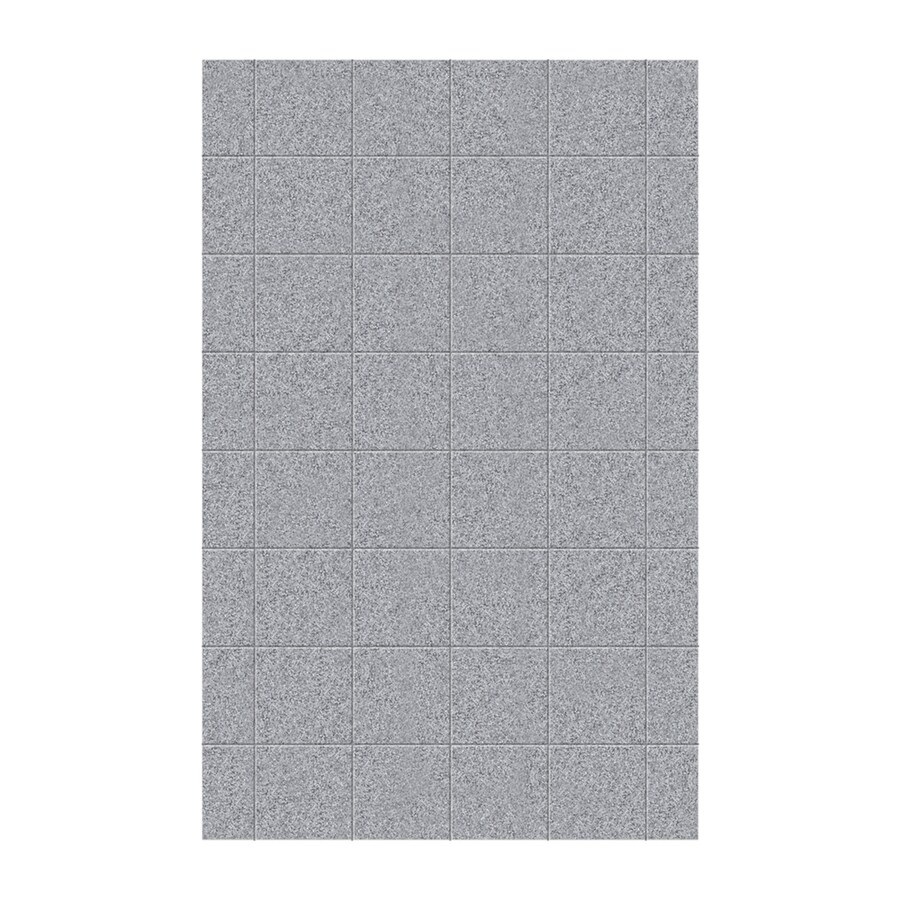 Swanstone Gray Granite Shower Wall Surround Side Panel (Common: 0.25-in x 62-in; Actual: 96-in x 0.25-in x 62-in)