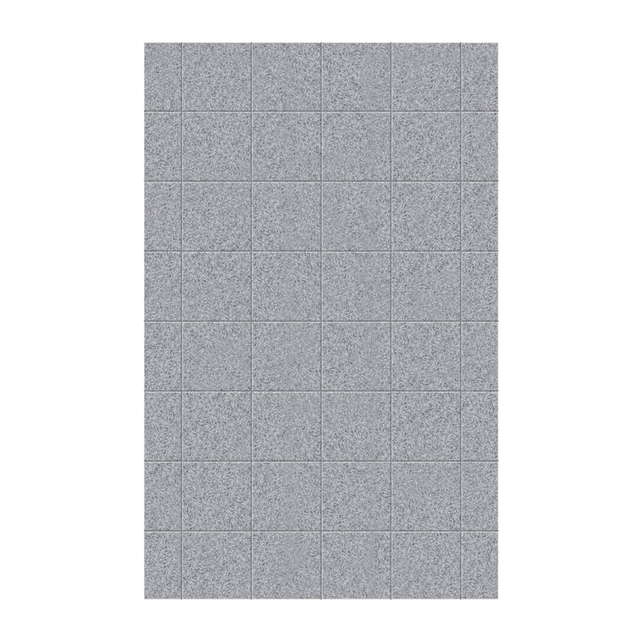 Swanstone Gray Granite Shower Wall Surround Side Wall Panel (Common: 0.25-in x 62-in; Actual: 96-in x 0.25-in x 62-in)
