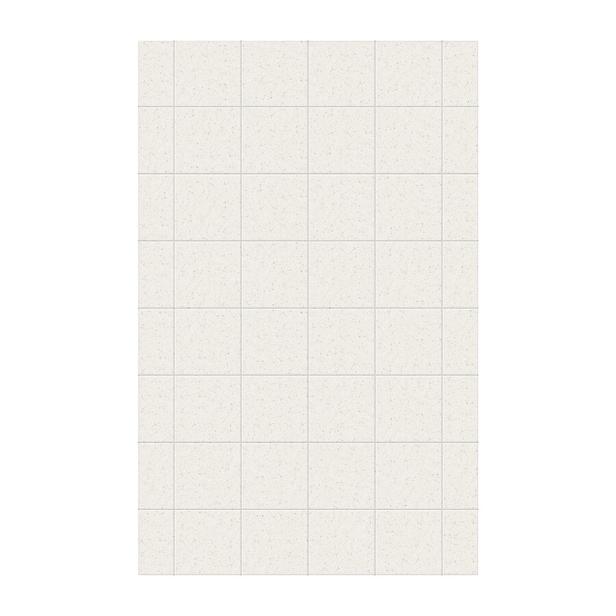 Swanstone Tahiti Matrix Shower Wall Surround Side Panel (Common: 0.25-in x 62-in; Actual: 96-in x 0.25-in x 62-in)