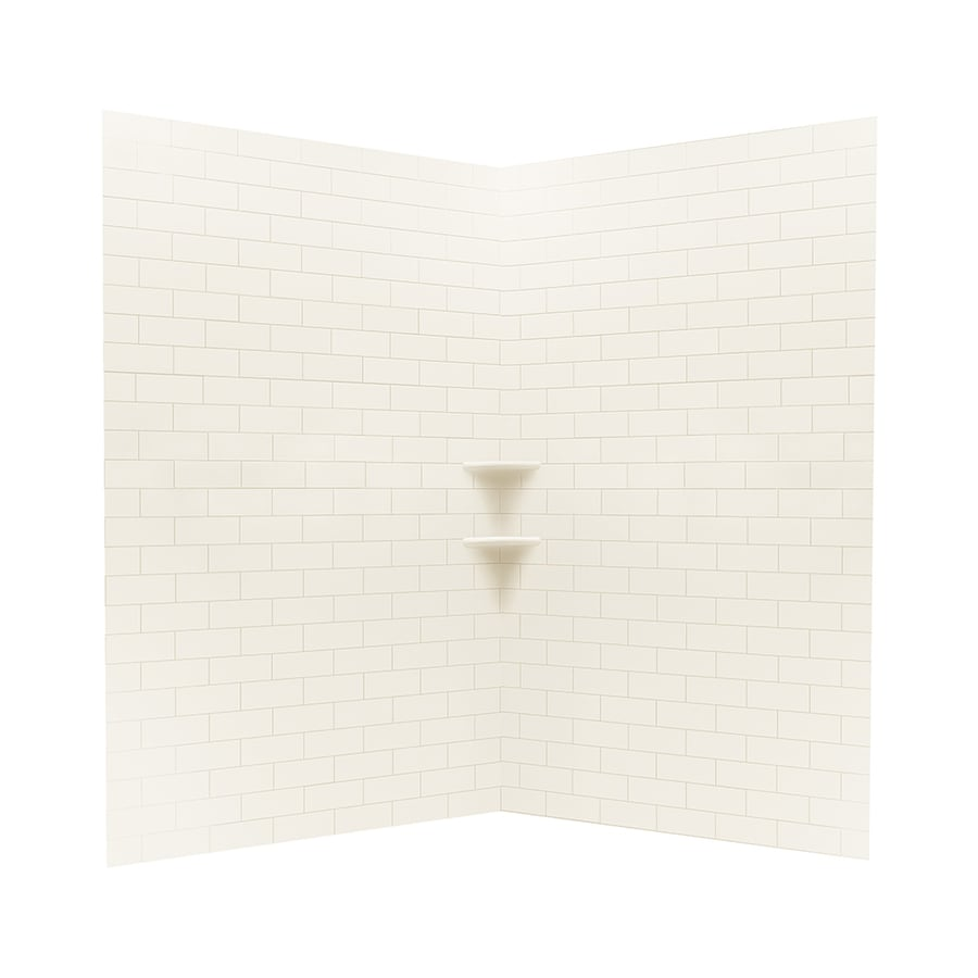 Swanstone White Shower Wall Surround Corner Wall Kit (Common: 48-in x 48-in; Actual: 72.5-in x 48-in x 48-in)