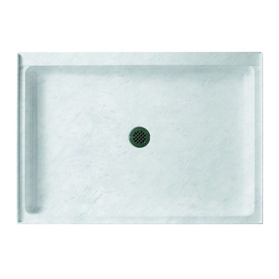 Swanstone Tundra Solid Surface Shower Base (Common: 48-in W x 32-in L; Actual: 48.375-in W x 32.1875-in L)
