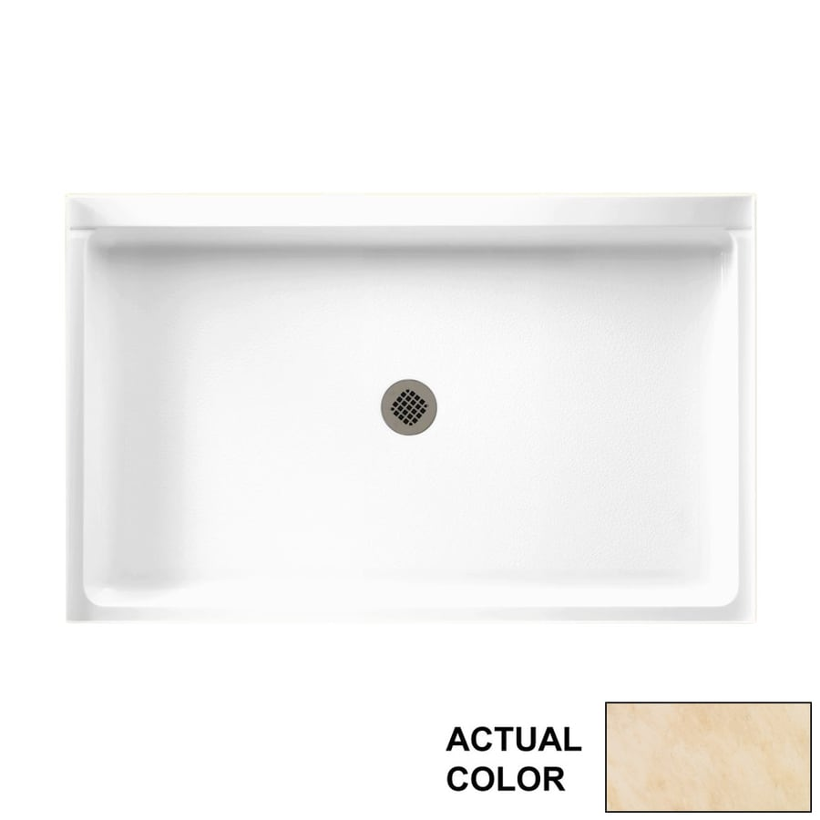 Swanstone Golden Steppe Solid Surface Shower Base (Common: 54-in W x 34-in L; Actual: 54.375-in W x 34.1875-in L)