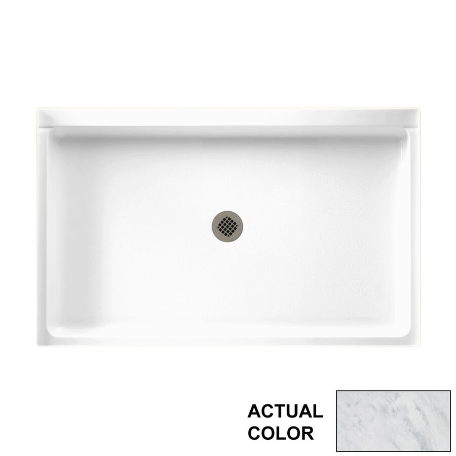 Swanstone Tundra Solid Surface Shower Base (Common: 54-in W x 34-in L; Actual: 54.375-in W x 34.1875-in L)