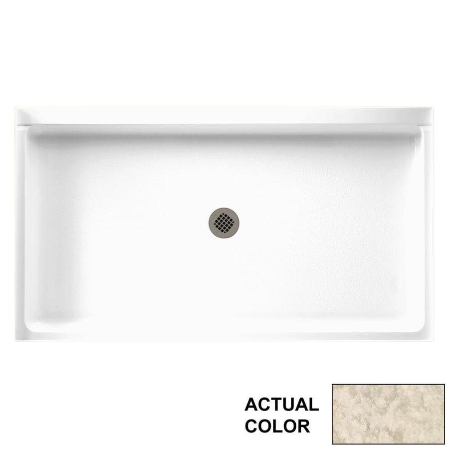 Swanstone Mountain Haze Solid Surface Shower Base (Common: 60-in W x 34-in L; Actual: 60.375-in W x 34.1875-in L)