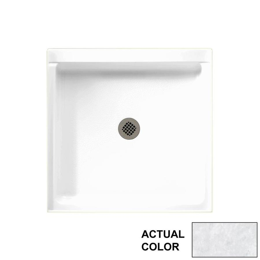 Swanstone Ice Solid Surface Shower Base (Common: 36-in W x 36-in L; Actual: 36.375-in W x 36.1875-in L)