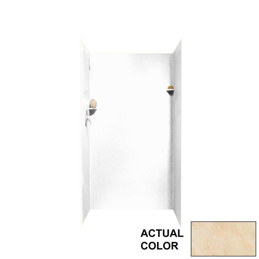 Swanstone Golden Steppe Shower Wall Surround Side and Back Wall Kit (Common: 36-in x 36-in; Actual: 72-in x 36-in x 36-in)