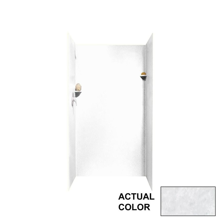 Swanstone Ice Shower Wall Surround Side And Back Wall Kit (Common: 36-in x 36-in; Actual: 72-in x 36-in x 36-in)