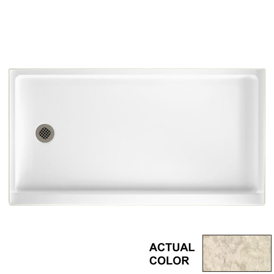 Swanstone Mountain Haze Solid Surface Shower Base (Common: 60-in W x 32-in L; Actual: 60.375-in W x 32.1875-in L)