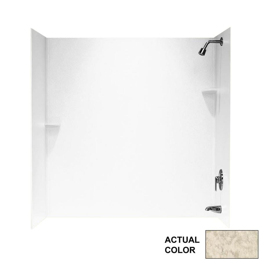 Swanstone Mountain Haze Solid Surface Bathtub Wall Surround (Common: 30-in x 60-in; Actual: 60-in x 30-in x 60-in)