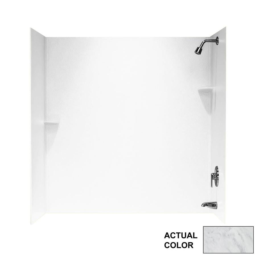 Swanstone Tundra Solid Surface Bathtub Wall Surround (Common: 30-in x 60-in; Actual: 60-in x 30-in x 60-in)