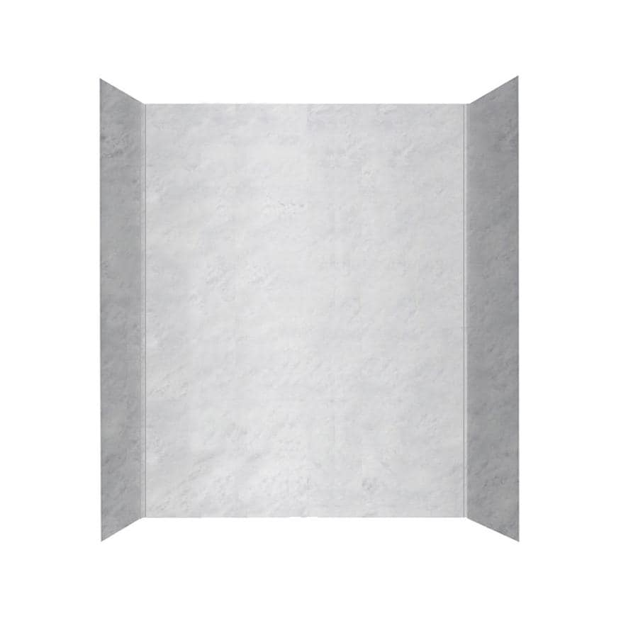 Shop Swanstone Ice Solid Surface Bathtub Wall Surround (Common: 30 ...