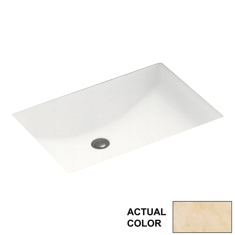 Swanstone Golden Steppe Solid Surface Undermount Rectangular Bathroom Sink with Overflow