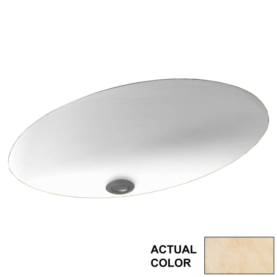 Shop Swanstone Golden Steppe Solid Surface Undermount Oval