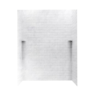 Swan Ice Shower Wall Surround Panel Kit Common 62 In X 36