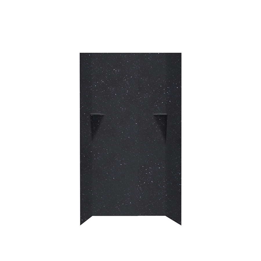 Swanstone Crystal Black Shower Wall Surround Side And Back Wall Kit (Common: 36-in x 36-in; Actual: 72-in x 36-in x 36-in)