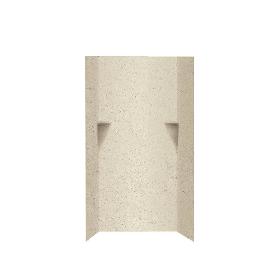 Swanstone Ivory Glass Shower Wall Surround Side And Back Wall Kit (Common: 36-in x 36-in; Actual: 72-in x 36-in x 36-in)