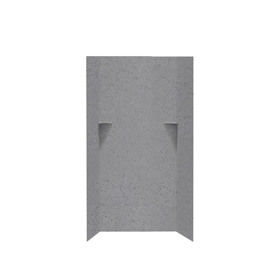 Swanstone Gray Glass Shower Wall Surround Side and Back Walls (Common: 36-in x 36-in; Actual: 72-in x 36-in x 36-in)