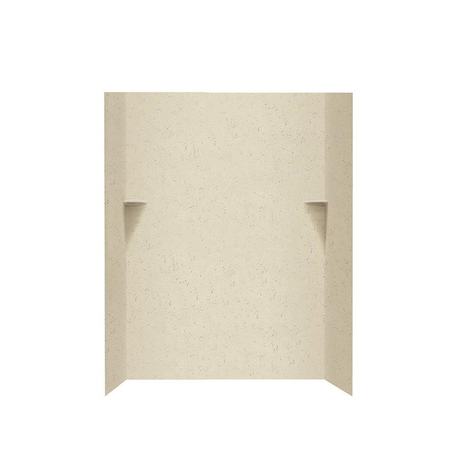 Swanstone Crystal Cream Shower Wall Surround Side and Back Walls (Common: 48-in x 36-in; Actual: 72-in x 48-in x 36-in)